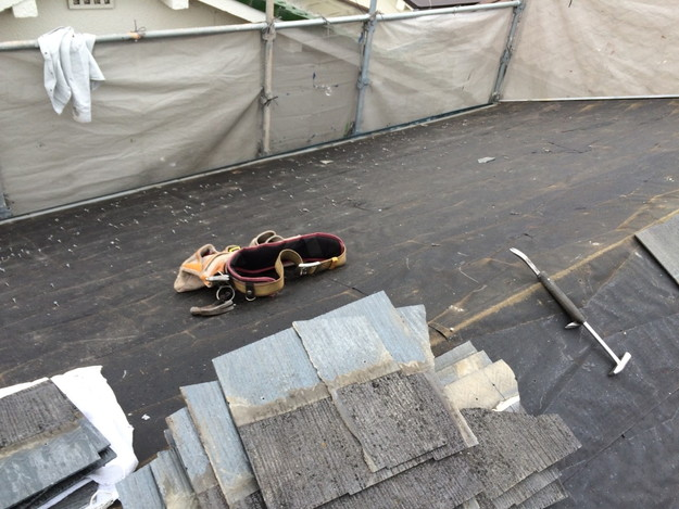 既存屋根撤去作業屋根リフォーム工事1429233372252