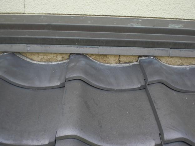雨漏り対策工事前漆喰箇所CIMG1269