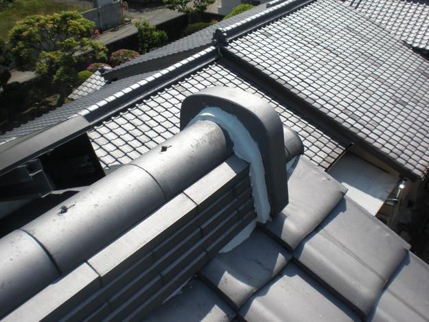 雨漏り対策工事完了漆喰箇所CIMG1278