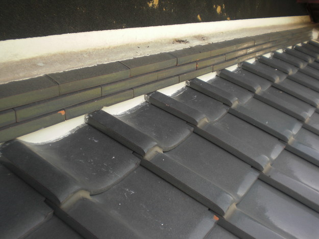 雨漏り対策工事完了漆喰箇所CIMG1290