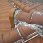 雨漏り対策修理 漆喰箇所の工事と一部瓦交換(神戸市)