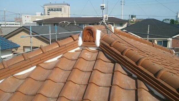 雨漏り対策工事漆喰交換1430654322988