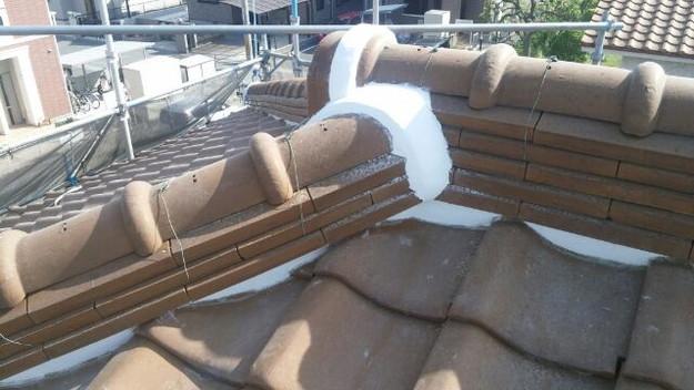 雨漏り対策工事漆喰交換1430654419205