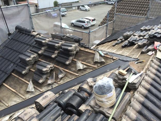 雨漏り対策谷板金交換工事1427973215868