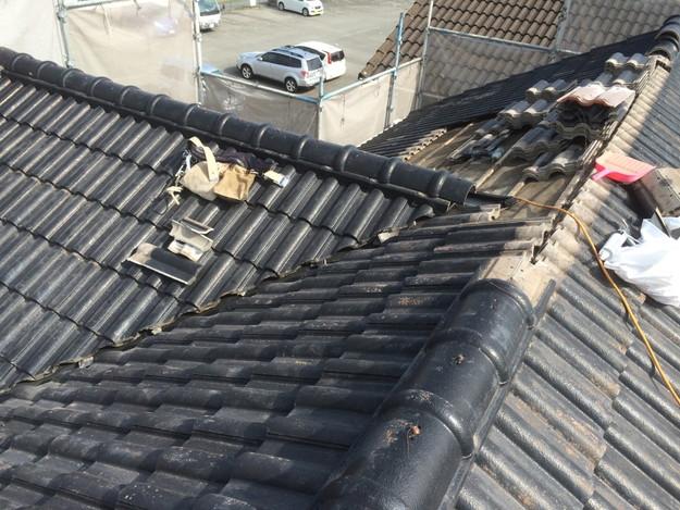 雨漏り対策谷板金交換工事1427973220969