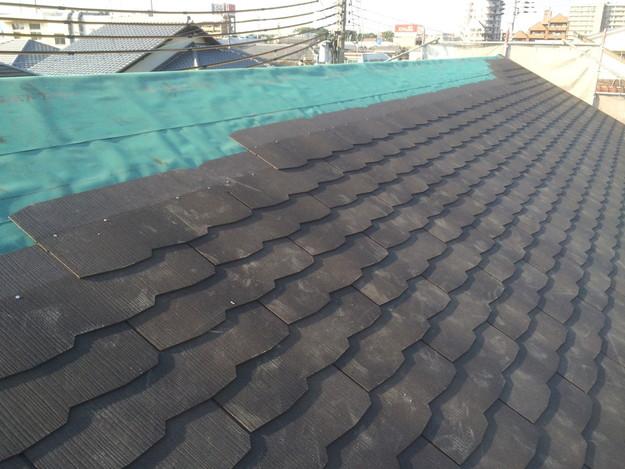 カラーベスト屋根材敷設中1432902551168