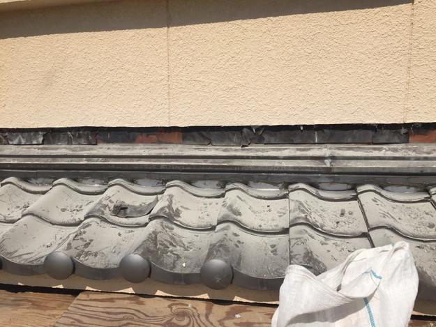下屋根庇壁際修理1432895606493