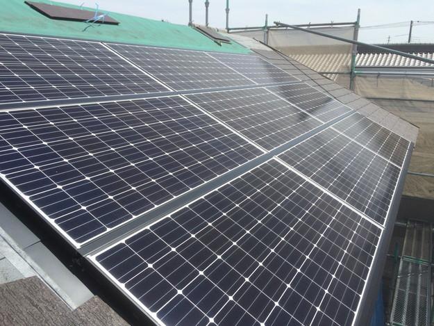 太陽光ソーラーパネル設置新築屋根工事1432733538732