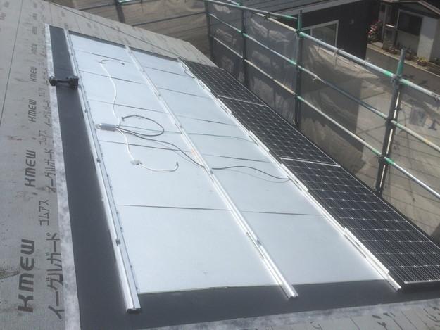 太陽光ソーラーパネル設置新築屋根工事1432733549639