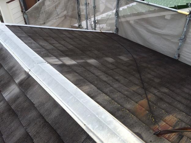 屋根リフォーム前現場写真カラーベスト屋根材1429233388747