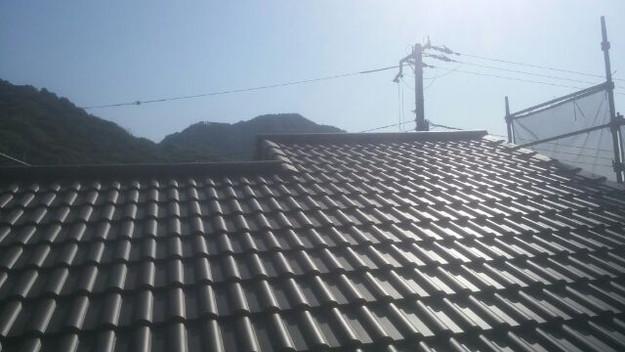 屋根リフォーム大屋根完成1430742157353