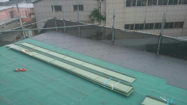 屋根リフォーム工事カバー工法ガルバリウム屋根金属製敷設1432211859800