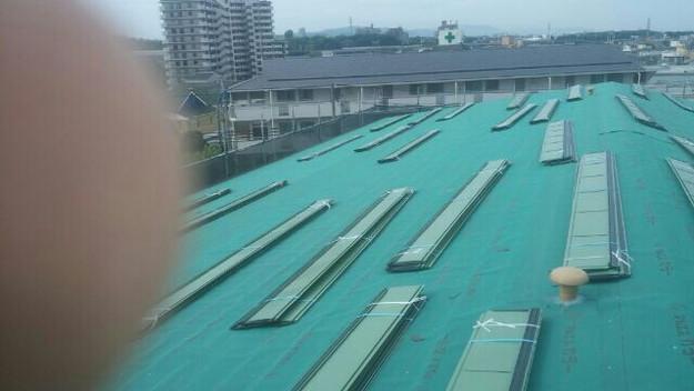 屋根リフォーム工事カバー工法下地材敷設1432211855898