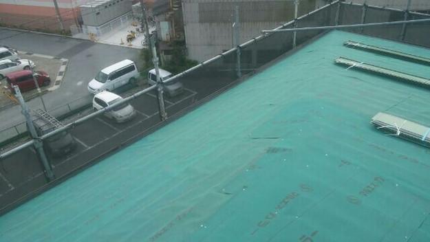 屋根リフォーム工事カバー工法下地材敷設1432211857914