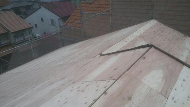 屋根リフォーム工事屋根補強作業1430742628395
