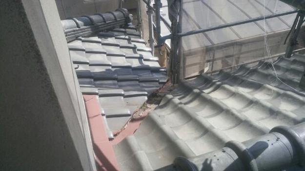 屋根修理の様子1433248037309