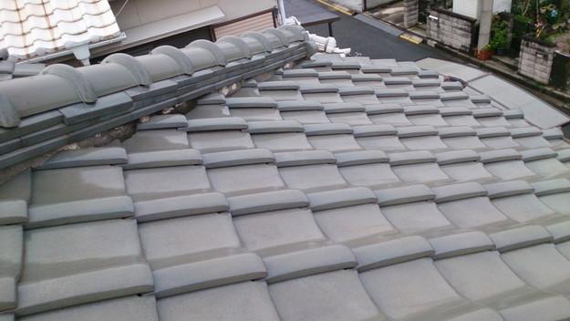 屋根修理工事前漆喰部の劣化DSC_0437