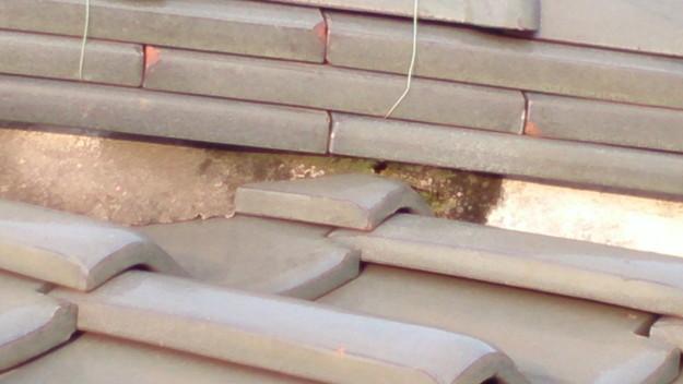 屋根修理工事前漆喰部DSC_0457