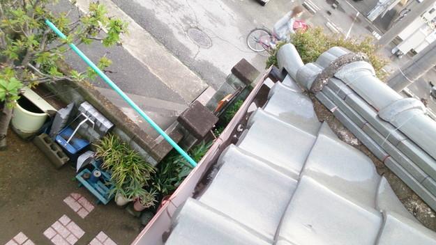 屋根修理工事前雨樋雨水つまりDSC_0450