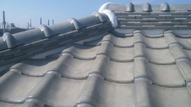 屋根修理漆喰工事完了1433247675224