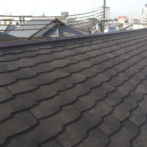 屋根工事完了1432902571473