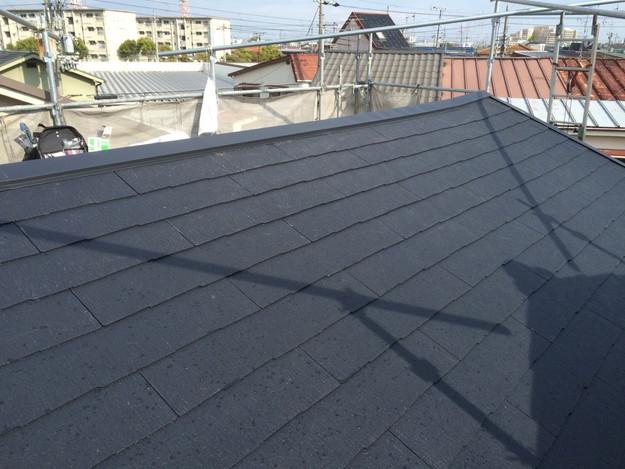 屋根工事完成写真新設カラーベスト屋根材1429233379796