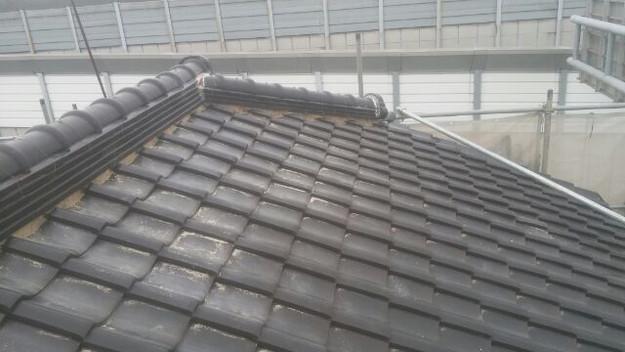 屋根漆喰工事施工前1433678777483