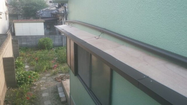 庇(ひさし)屋根修理中1433678337013