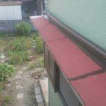 庇(ひさし)屋根修理の作業風景