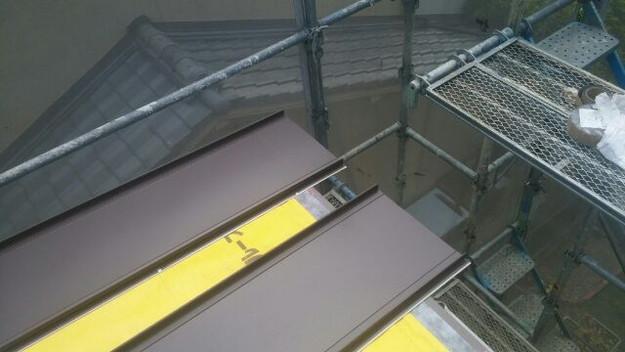 改築部屋根ガルバリウム製立平葺き工事1432471474923