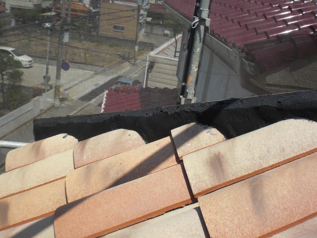 新築屋根工事洋瓦スペイン瓦CIMG1314