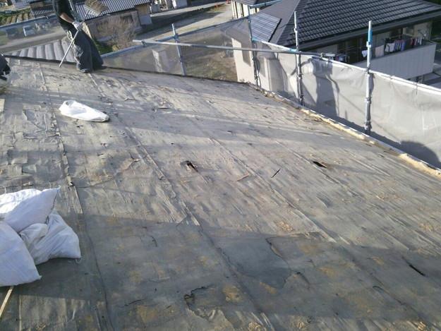 既存屋根撤去作業完了1430704466691