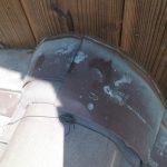 雨漏り対策修理 下屋根壁際板金まわり