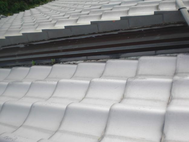 雨漏り対策工事前漆喰箇所CIMG1248