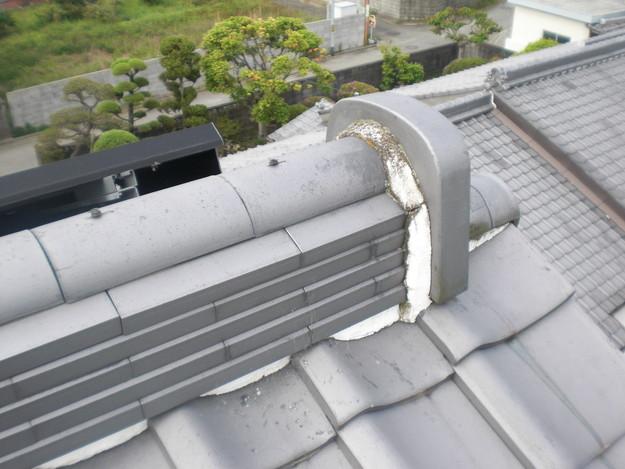 雨漏り対策工事前漆喰箇所CIMG1257