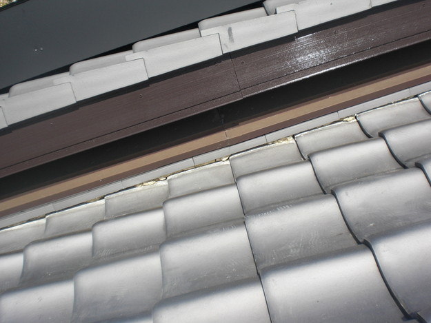 雨漏り対策工事前漆喰箇所CIMG1265