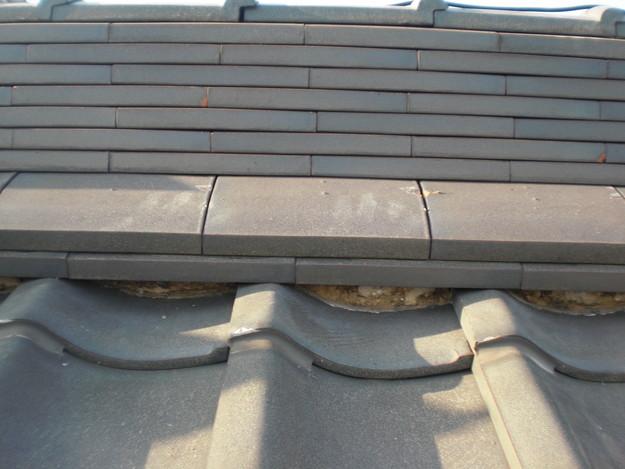 雨漏り対策工事前漆喰箇所CIMG1267