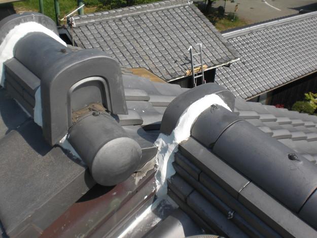 雨漏り対策工事完了漆喰箇所CIMG1281