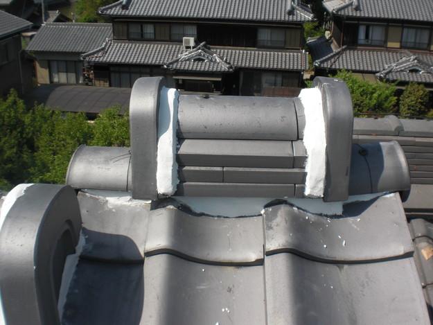 雨漏り対策工事完了漆喰箇所CIMG1282
