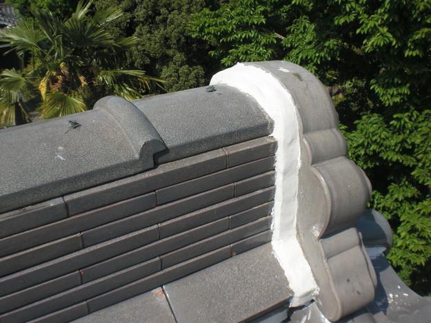 雨漏り対策工事完了漆喰箇所CIMG1289