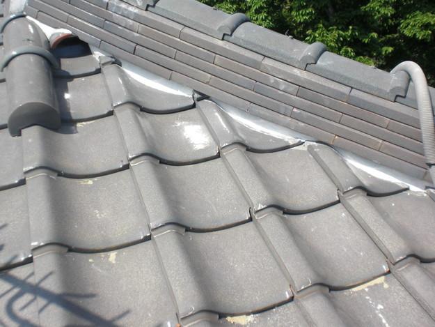 雨漏り対策工事完了漆喰箇所CIMG1291