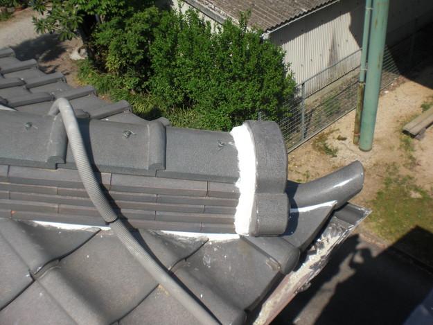 雨漏り対策工事完了漆喰箇所CIMG1292