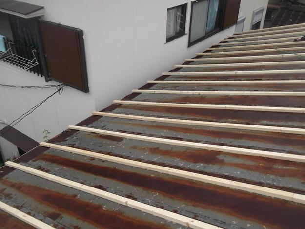屋根リフォーム工事土台づくりDSCF1852