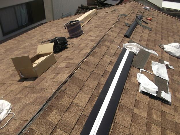 屋根葺き替えリフォーム中DSCF1868