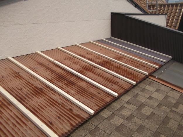 屋根葺き替えリフォーム中DSCF1874