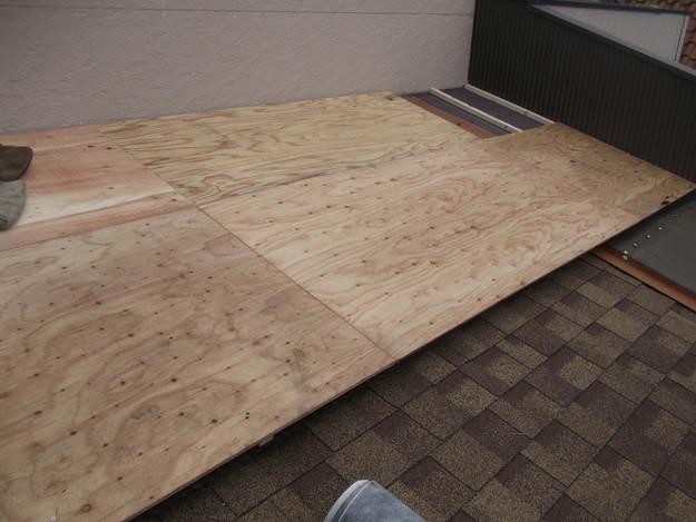 屋根葺き替えリフォーム中DSCF1875