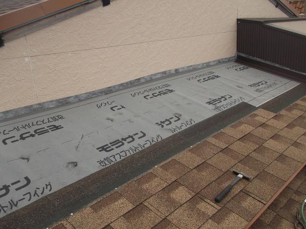 屋根葺き替えリフォーム中DSCF1886