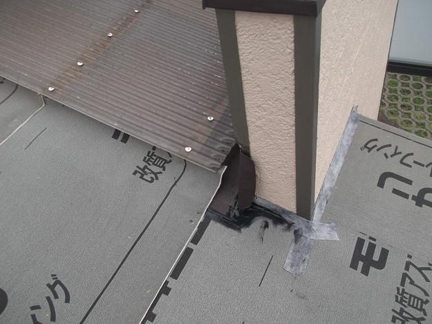 屋根防水シート敷設中DSCF1861