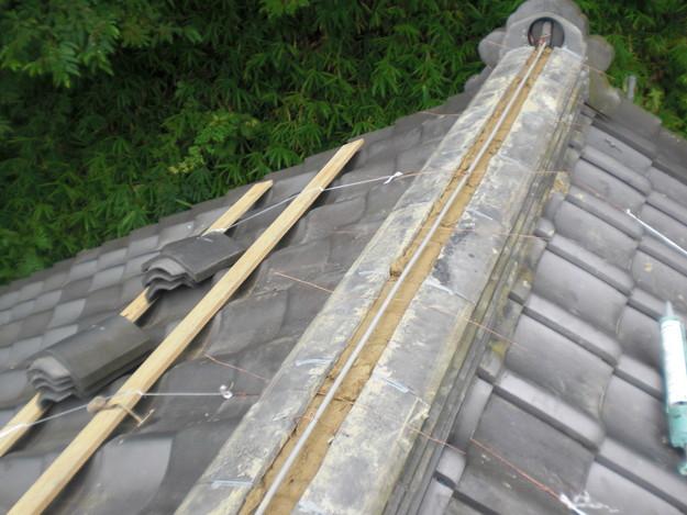 お寺の屋根工事棟瓦CIMG1460