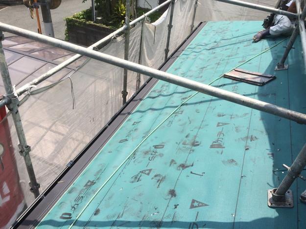屋根防水下地材張り屋根リフォーム1434975725862